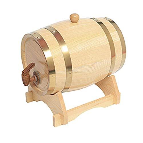 ZGQJT Barril De Vino Barril De Roble 3L Vino Y Licores De Edad Barril De Vino Estante De Vino Whisky Brandy Cubeta De Almacenamiento (Color : E)