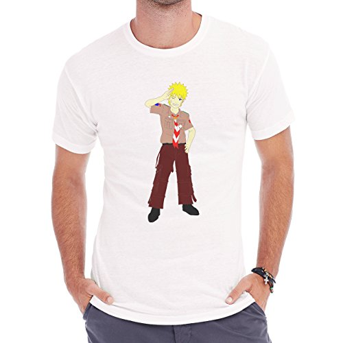 Naruto Scout Edition Happy Herren T-Shirt Weiß