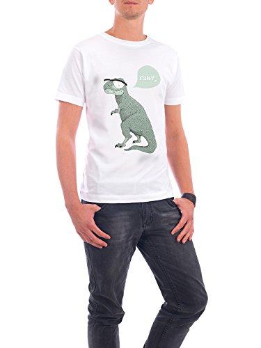 """Design T-Shirt Männer Continental Cotton """"Rawr"""" - stylisches Shirt Tiere Kindermotive von Anna Grape Weiß"""