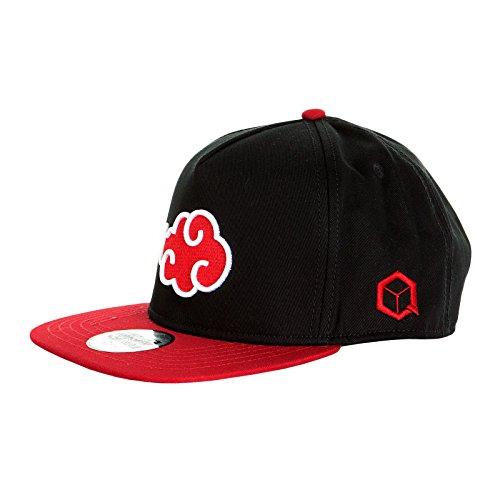 Naruto Shippuden Snapback Cap Akatsuki Symbol Baumwolle schwarz rot