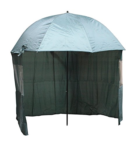 Angelschirm Anglerschirm Schirm Umhang Schirmzelt Seitenwand Sichtfenster 240 cm