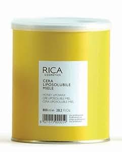 Cire d'épilation professionnelle RICA - Cire liposoluble MIEL (Jaune) Pot de 800ml.
