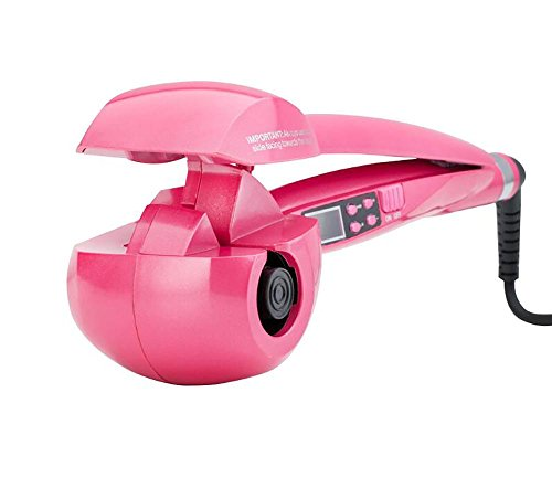Automatische Lockenwickler, Pro Salon LCD Haar Curling Curler Keramik Roller Wave Maschine Styler Dampfer, Mode Haar Artefakt , Pink