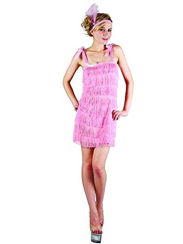 Pink Flapper Girl 1920er Moulin Rouge Charleston Kostüm (1920's Flapper Girl Halloween Kostüm)