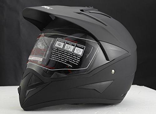 ATO 801 GS War Matt Enduro - Casco de motociclismo (con visera, ECE 2205), diseño con acabado mate