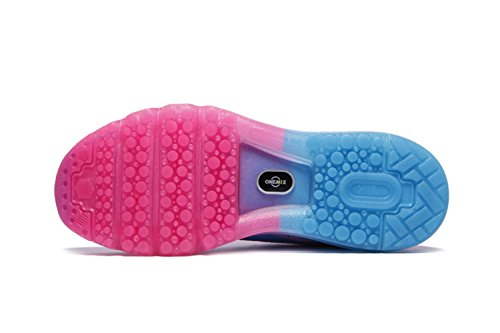 Chaussures de sport Les chaussures amortissent chaussures de course chaussures d'été dames chaussures casual amorti respirant léger Rose