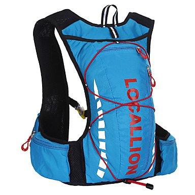 ZXC/ Tourenrucksäcke/Radfahren Rucksack/Sporttasche ( Rot/Blau , Terylen , 10 L) Wasserdicht/Schnell abtrocknend/tragbar/Multifunktions Red
