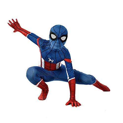 SEJNGF 3D Digitaldruck Spider-Man Siamesische Strumpfhose Cosplay Halloween Cosplay Kostüm (Kopfbedeckung Kann Getrennt ()