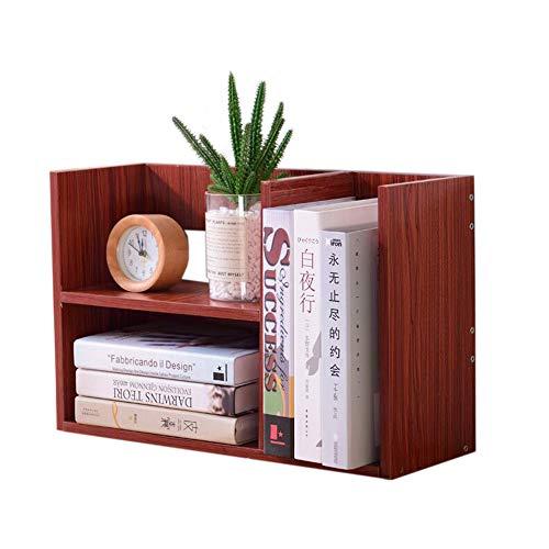 JCNFA Desktop-Bücherregal Hölzerne Desktop-Aufbewahrungsbox Student Verwenden Büro Verwenden Ausstellungsständer Aus Holz, 4 Farben (Farbe : Mahagoni) -