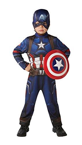 Rubies 3620771 - Captain America Civil War Classic - Child, Verkleiden und Kostüme, (Kostüm Halloween America Captain)