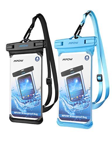 Preisvergleich Produktbild Mpow Einteilig IPX8 wasserdichte Handyhülle,  Einteilige Universale Trockentasche iPhone X / XR / XS MAX Handytasche,  Volltransparente Wasserfeste Hülle für Galaxy S10 / S9, P30 / P20 bis 6,  5 Zoll
