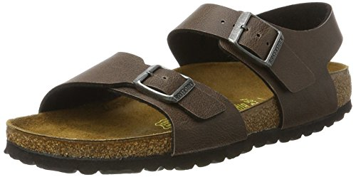 Birkenstock Kids Unisex-Kinder New York Riemchensandalen, Braun (Pull Up Brown), 26 EU