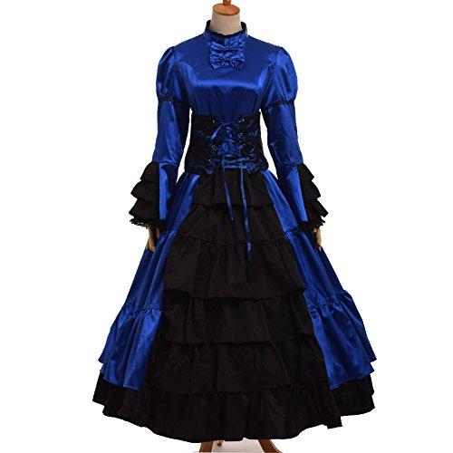 GRACEART Gotisch Viktorianisch Ball Kleid Reenactment Kostüm Kleid (Kostüme Kleider Gotische Viktorianische)