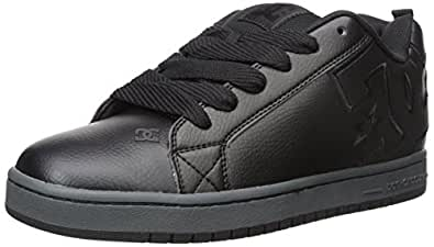 DC Men s Court Graffik SE Skate Shoe Black 3 6 D(M) US