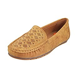MOCHI Women TAN Synthetic Loafers ( SIZE EURO37/UK4 )