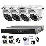 Hikvision 4CH DVR CCTV Kit système de sécurité & 4x Sony 2,4MP CMOS Tvi 1080p Full HD Caméras dôme Blanc 20m IR Vision de nuit facile P2P Disque dur de 1To
