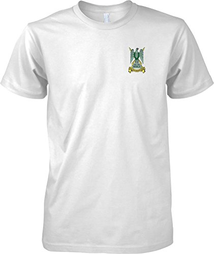 British Army Armour - The Royal Scots Dragoon Guards Colour Badge - Official MOD T-Shirt - White - Medium