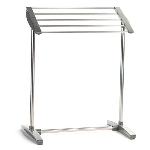 Delavala Multifunctional Stainless Steel Mobile Towel Rack Holder Stand(Medium)