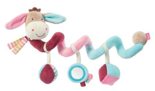 Fehn 081336 Activity-Spirale Esel / Stoff-Spirale zum Greifen und Fühlen für Bett, Kinderwagen, Laufgitter anpassbar / Für Babys und Kleinkinder ab 0+ Monaten / Maße: 30 cm lang
