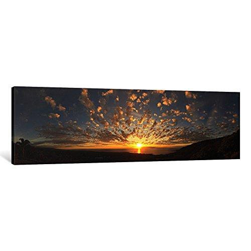 iCanvasART 1Stück Sonnenuntergang über dem Pacific Ocean kealakekua Bay, Kona Coast, Kona, Hawaii, USA Leinwand Kunstdruck Panorama Bilder, 121,9x 40,6cm/3,8cm Tiefe -