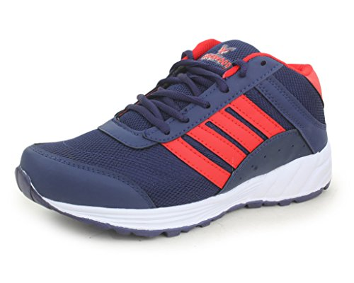 Trase Touchwood Men's Blade Navy/Red Sports Running Shoe (Size 6-12 IND/UK)