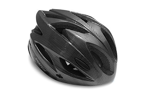 SNATCH Casco Bici Ciclismo MTB - Ventilazione Forzata a 18 Fori - Peso: 170gr. - by Italy (Carbonio)