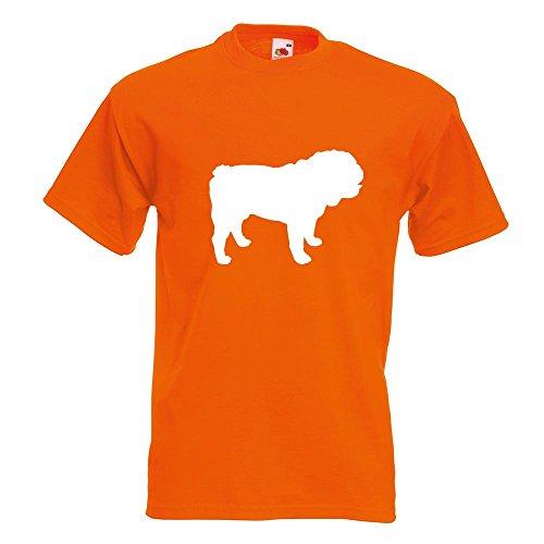 KIWISTAR - Englische Bulldogge Hunderasse T-Shirt in 15 verschiedenen Farben - Herren Funshirt bedruckt Design Sprüche Spruch Motive Oberteil Baumwolle Print Größe S M L XL XXL Orange