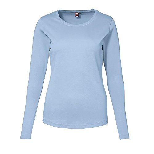 ID Identity Interlock T-Shirt langarm Azurblau