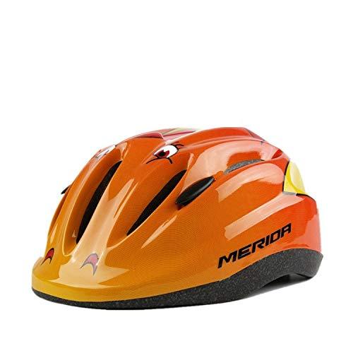 WRGWEHG Fahrradhelm Kinder Fahrradreithelm/Kinderbatterie Auto/Elektrofahrzeug / Baby Cartoon Skating Helm, Orange