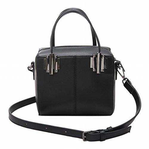 catwalk Spritzt Boston tasche handtasche Weibliche Schulter messenger bag Schwarz