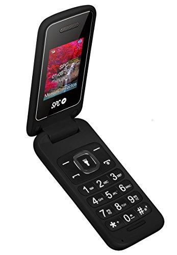 SPC Flip Dual Sim Negro Teléfono Libre para Personas Mayores