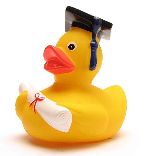 Akademiker Badeente mit Diplom - Quietscheentchen mit Doktorhut