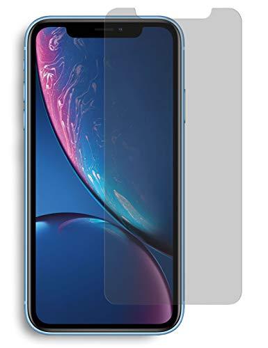 MyGadget Blickschutz Folie für Apple iPhone XR - Anti Spy Panzerglas Display Schutzfolie 9H Glasfolie - Abgerundete Full Screen Privacy Protector -