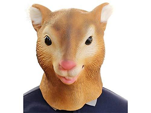 ween Cute Eichhörnchen Kopf Abdeckung Maske heikle Maske für Maskerade Geburtstagsparty (braun) für Spaß ()