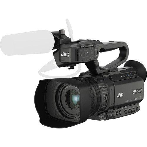 Jvc gy-hm200e videocamera palmare 12.4mp cmos full hd nero videocamera