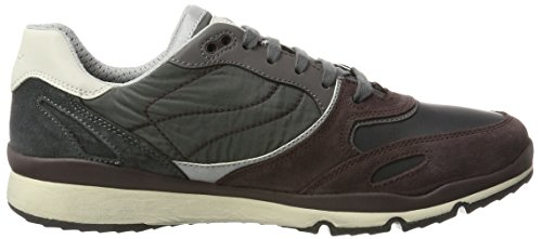 Sandford U Anthraci Grau Sneaker ABX Herren Geox Burgundy B Dk A 5HpvwExw