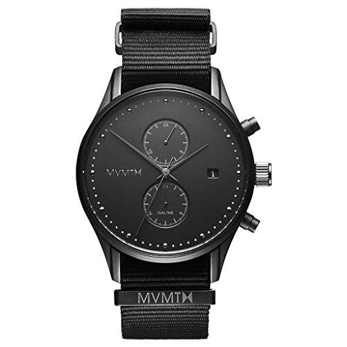 MVMT Voyager Onyx schwarz/ schwarz Nylon Nato Herren Armbanduhr
