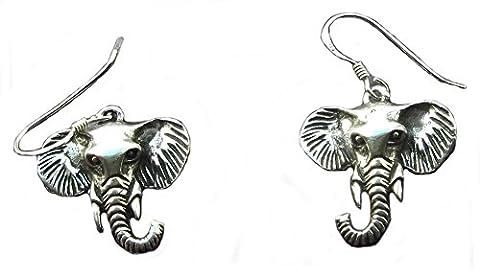 Animal Aspirations Elephant Head Sterling Silver Earrings