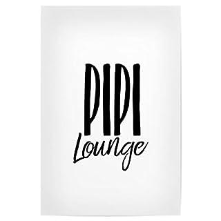 artboxONE Poster 30x20 cm Typografie Pipi Lounge Hochwertiger Design Kunstdruck - Bild Typografie von AB1 Edition
