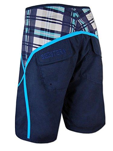 SEESTERN Herren Boardshorts Surfshorts Boardshort Surf Short Bade Shorts XS-3XL Blautöne