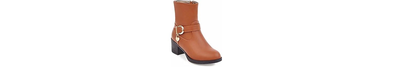 Invierno europeo Martin botas botas cinturón con botas de tacón alto de mujeres,amarillo,36 -