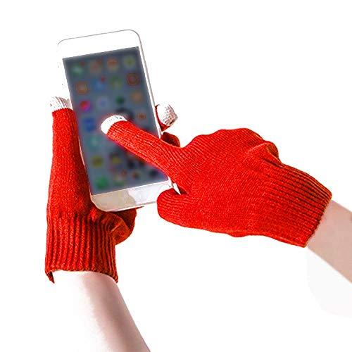 TEBAISE Touchscreen Handschuhe Damen - Frauen Winter Warm Handschuhe Touch Screen Fäustlinge mit Faux Fleecefutter, Festival Geschenke für Damen Mädchen