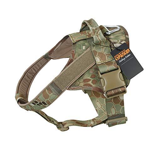 EXCELLENT ELITE SPANKER Hundegeschirr militärischen Ausbildung Patrol K9 Service Dog Weste Arbeiten verstellbar Hund Weste(Kryptek ManDrake-S) -