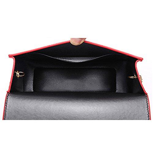Myymee Donna Sacchetto del Messaggero della spalla con la Catena di modo Piccolo Sacchetto Quadrato Nero