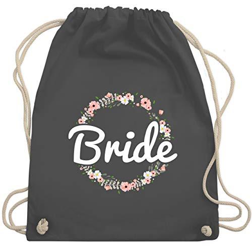 JGA Junggesellinnenabschied - Bride Blumenkranz - Unisize - Dunkelgrau - WM110 - Turnbeutel & Gym Bag (Genial Lustige Kostüm)