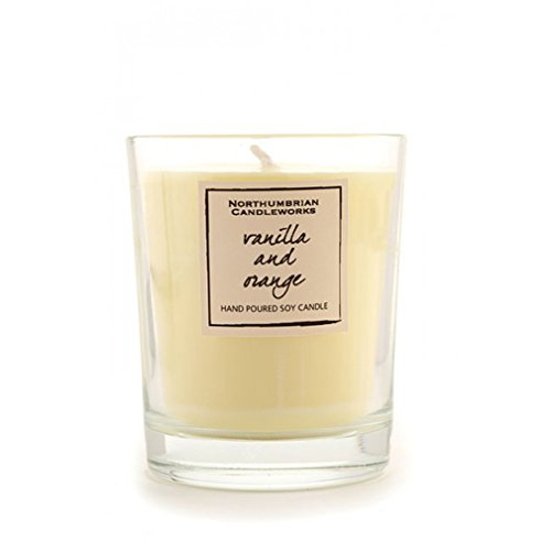 Northumbrian Candleworks vaniglia-Arancio-Candela profumata in bicchiere in