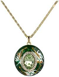 Pendentif grand format en jade avec magnifique chaîne 18carats