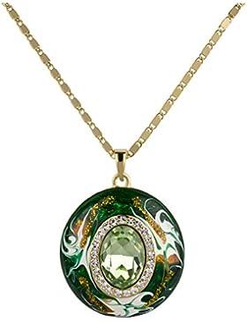 Jade-Anhänger an Halskette 18k Gelbgold vergoldet.
