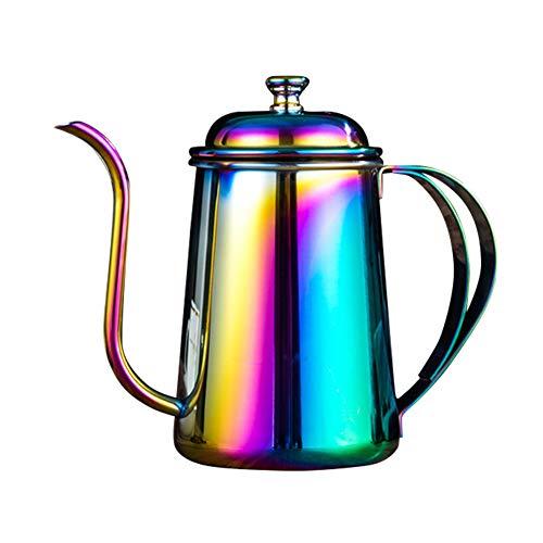 Carremark 650ML Edelstahl Kaffeekanne Schwanenhals Auslauf Lange Mund Wasserkocher Hand Punch...