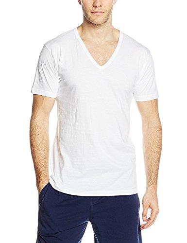 3 t shirt corpo uomo liabel mezza manica scollo a v 100% cotone art. 03828/53 (3/s)